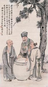 L'aceto di Confucio Budda e Lao Tze